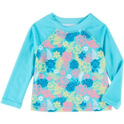 Reel Legends Little Girls Hibiscus Rashguard