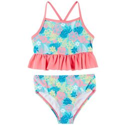 Reel Legends Little Girls Hibiscus Tankini Swimsuit