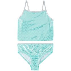 Reel Legends Big Girls Shimmer Mermaid Tankini Swimsuit