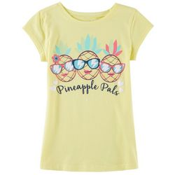 Reel Legends Little Girls Pineapple Pals T-Shirt