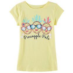 Reel Legends Little Girls Pineapple Pals T-Shirt