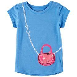 Reel Legends Little Girls Flamingo Purse T-Shirt