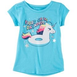 Reel Legends Little Girls Unicorn Float On T-Shirt
