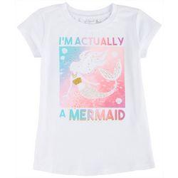Reel Legends Little Girls Im Actually A Mermaid T-Shirt