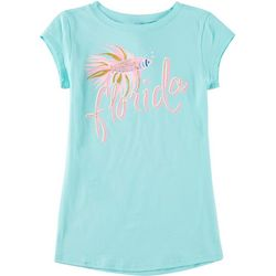 Reel Legends Little Girls Glitter Florida T-Shirt