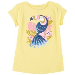 Reel Legends Little Girls Short Sleeve Toucan T-Shirt