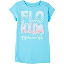 Reel Legends Big Girls Florida Is For Mermaids T-Shirt