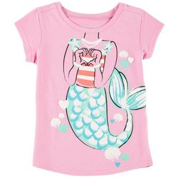 Reel Legends Little Girls Mermaid Heart T-Shirt