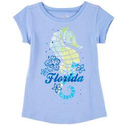 Reel Legends Little Girls Florida Seahorse T-Shirt