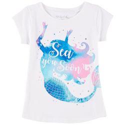 Reel Legends Little Girls Sea You Soon Mermaid T-Shirt