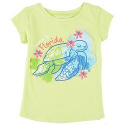 aa6130cb Reel Legends Little Girls Florida Sea Turtle T-Shirt