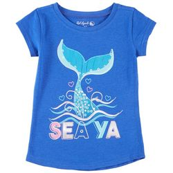 Reel Legends Little Girls Sea Ya Mermaid Tail T-Shirt