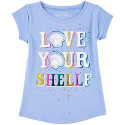Reel Legends Little Girls Love UR Shellf T-Shirt