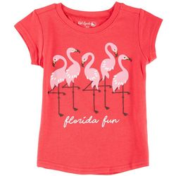 Reel Legends Little Girls Florida Fun Flamingo T-Shirt