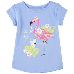 Reel Legends Little Girls Florida Flamingo T-Shirt