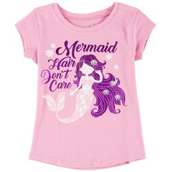 Reel Legends Little Girls Mermaid Hair Don't Care T-Shirt