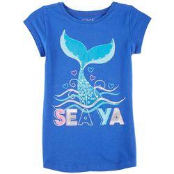 7bbc42adf Reel Legends Big Girls Sea Ya Mermaid Tail T-Shirt