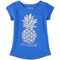 Reel Legends Big Girls Florida Pineapple T-Shirt