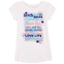 Reel Legends Big Girls Beach Rules T-Shirt
