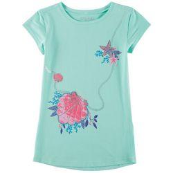 Reel Legends Big Girls Seashell Purse T-Shirt
