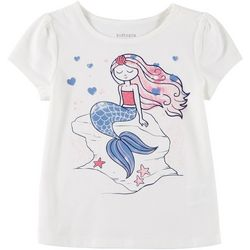 Kidtopia Toddler Girls Glitter Mermaid T-Shirt