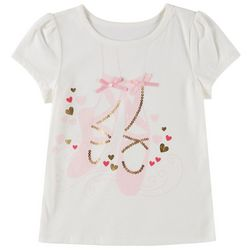 Kidtopia Little Girls Sequin Ballet T-Shirt