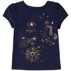 Kidtopia Toddler Girls Inspire Unicorn T-Shirt