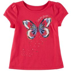 Kidtopia Little Girls Love You Forever Butterfly T-Shirt