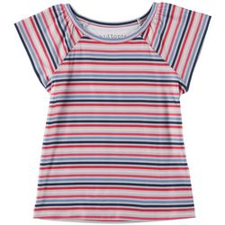 Kidtopia Toddler Girls Striped Yummy T-Shirt