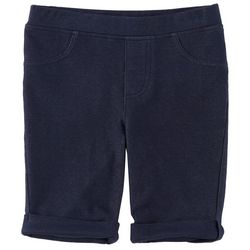 Kidtopia Toddler Girls Solid Pull-On Bermuda Shorts