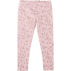 Kidtopia Little Girls Glitter Stars Pull-On Leggings