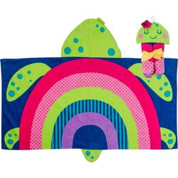 Stephen Joseph Girls Turtle Hooded Towel