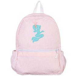 Nikiani Girls Seersucker Seaside Mermaid Backpack