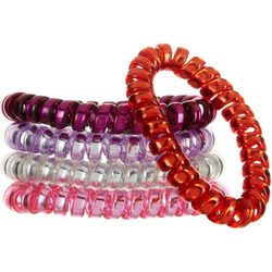 Capelli Girls 5-pk. Clear Spiral Hair Ties
