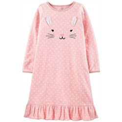 Carters Little Girls Bunny Nightgown