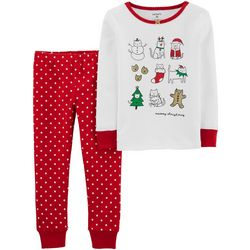 Carters Toddler Girls 2-pc. Meowy Christmas Pajama Set