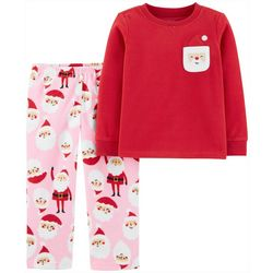 Carters Toddler Girls 2-pc. Santa Pocket Pajama Set