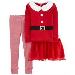 Carters Toddler Girls Santa Suit Tutu Leggings Set