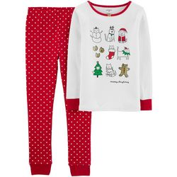 Carters Little Girls 2-pc. Meowy Christmas Pajama Set
