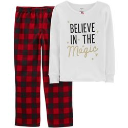 Carters Little Girls 2-pc. Believe In Magic Pajama Set