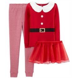 Carters Little Girls Santa Suit Tutu Leggings Set