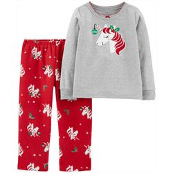 Carters Toddler Girls 2-pc. Holiday Unicorn Pajama Set