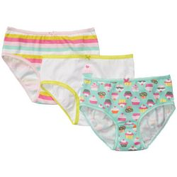 Carters Little Girls 3-pk. Cupcake Stripe Brief Panties