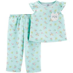 Carters Toddler Girls 2-pc. Floral Bunny Sleepwear Set
