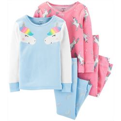 Carters Toddler Girls 4-pc. Unicorn Print Pajama Set