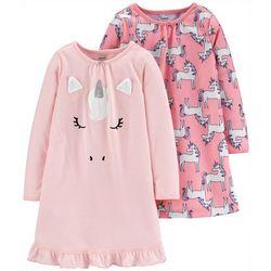 Carters Toddler Girls 2-pc. Unicorn Pajama Nightgown Set