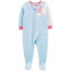 Carters Toddler Girls Unicorn Dots Snug Fit Footie Pajamas