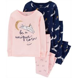 Carters Toddler Girls 4-pc. Unique-Corn Sleepwear Set