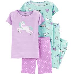 Carters Little Girls 4-pc. Horse Pajama Set