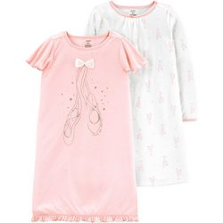 Carters Little Girls 2-pk. Love To Dance Ballet Nightgowns